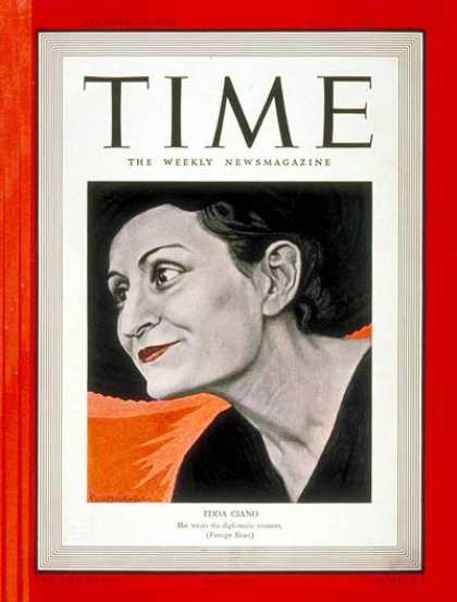 Time - Edda Ciano - July 24, 1939 - Italy