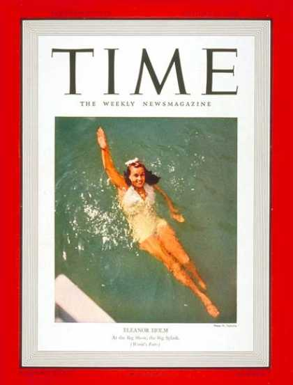 Time - Eleanor Holm - Aug. 21, 1939 - Swimming - Actresses - Olympics - Sports