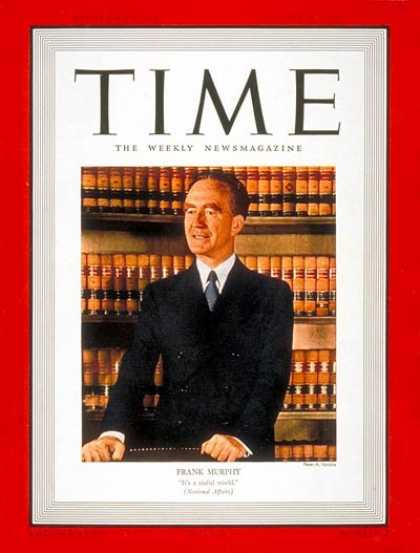 Time - Frank Murphy - Aug. 28, 1939 - Mayors - Cities - Michigan - Army - Politics