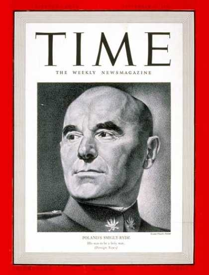Time - Marshal Smigly-Rydz - Sep. 11, 1939 - World War II - Military - Poland