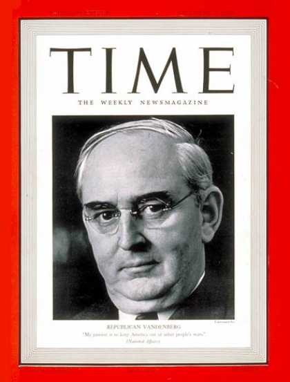 Time - Arthur Vandenberg - Oct. 2, 1939 - Congress - Senators - Politics