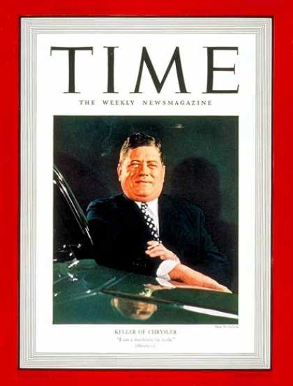 Time - Kaufman T. Keller - Oct. 16, 1939 - Cars - Automotive Industry - Transportation