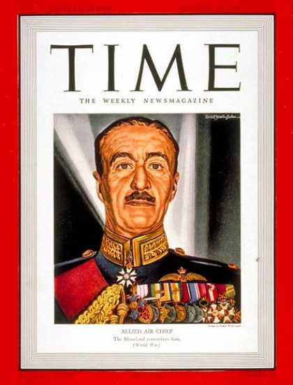 Time - Sir Cyril Newall - Oct. 23, 1939 - Air Force - India - World War II - Military