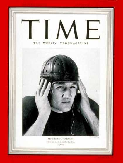 Time - Tom Harmon - Nov. 6, 1939 - Football - Sports