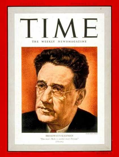 Time - George S. Kaufman - Nov. 20, 1939 - Theater