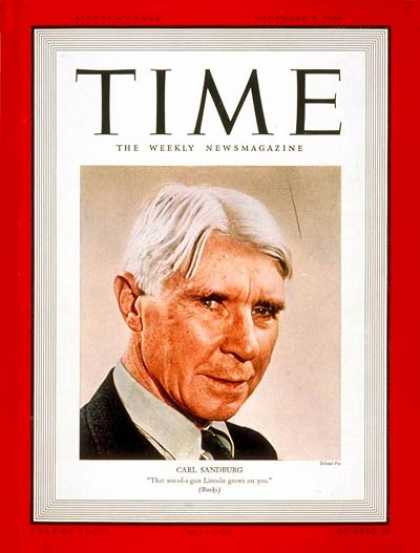 Time - Carl Sandburg - Dec. 4, 1939 - Books - Poets