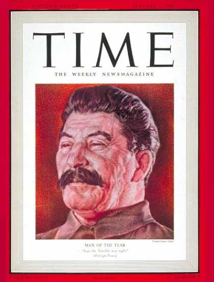Time - Joseph Stalin, Man of the Year - Jan. 1, 1940 - Joseph Stalin - Person of the Ye