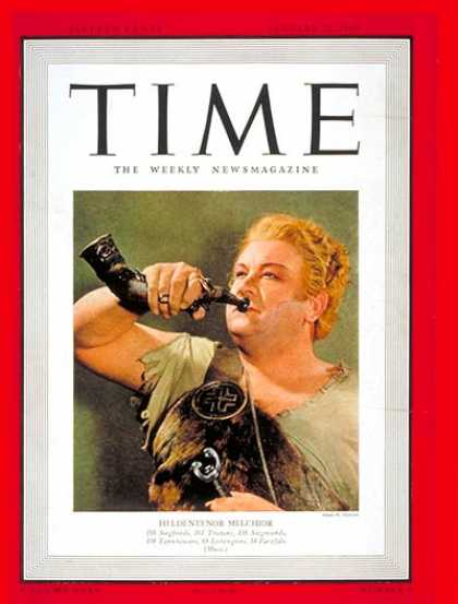 Time - Lauritz Melchoir - Jan. 22, 1940 - Opera - Singers - Music