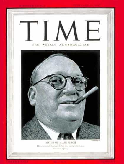 Time - John H. Levi - Feb. 19, 1940 - Mayors - Cities - Miami