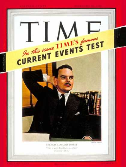 Time - Thomas E. Dewey - Feb. 26, 1940 - Thomas Dewey - Governors - New York