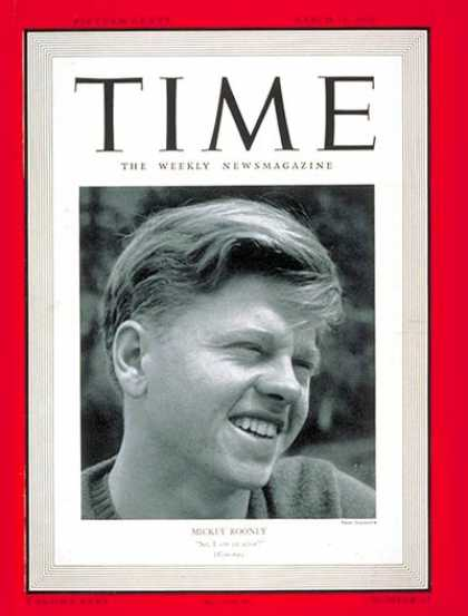 Time - Mickey Rooney - Mar. 18, 1940 - Actors - Movies