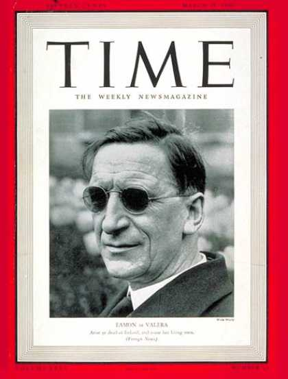 Time - Eamon de Valera - Mar. 25, 1940 - Ireland - League of Nations