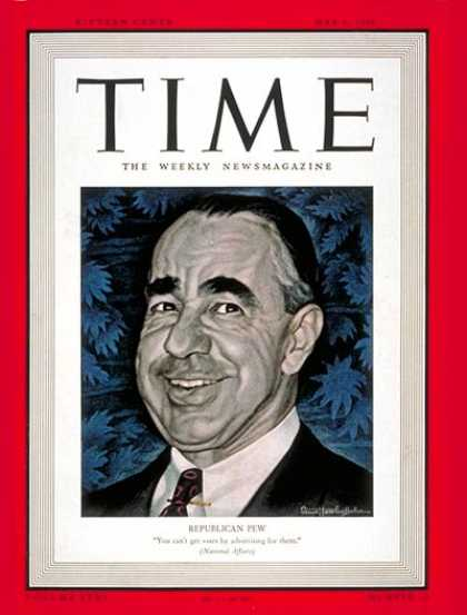 Time - Joseph N. Pew, Jr. - May 6, 1940 - Congress - Senators - Politics