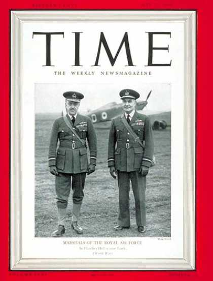 Time - Air Marshall Barratt, Vice Marshall Playfair - May 27, 1940 - World War II - Air