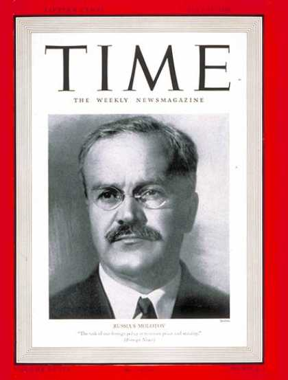 Time - Viacheslav Molotov - July 15, 1940 - Russia