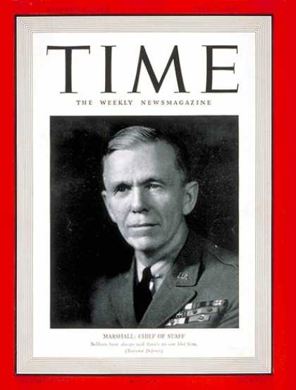 Time - General George Marshall - July 29, 1940 - George Marshall - Generals - Military