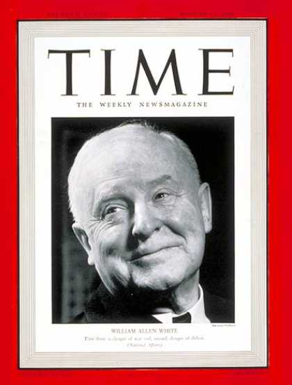 Time - William A. White - Aug. 19, 1940 - World War II