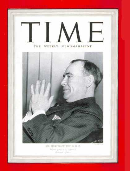 Time - Joe Martin - Sep. 9, 1940 - Republicans - Politics