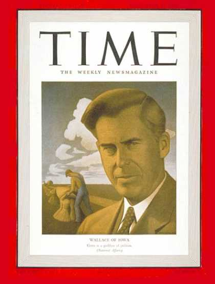 Time - Henry Wallace - Sep. 23, 1940 - Presidential Elections - Democrats - Politics