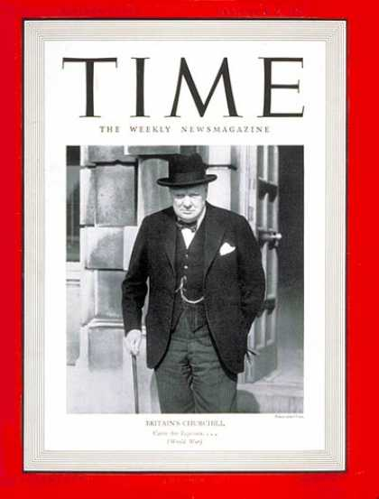 Time - Winston Churchill - Sep. 30, 1940 - Great Britain - World War II - Most Popular