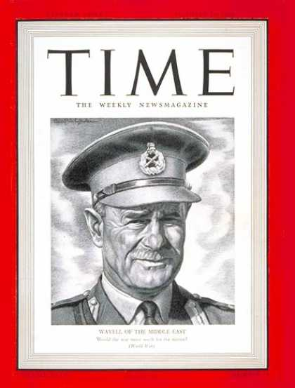 Time - Lt. General Wavell - Oct. 14, 1940 - World War II - Great Britain - Military
