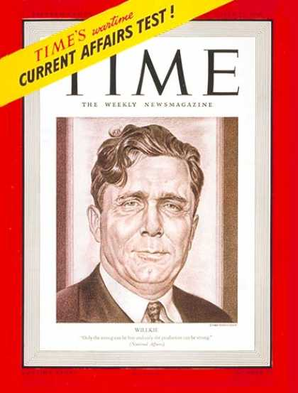 Time - Oct. 21, 1940 - Politics - Presidential Elections - Republicans