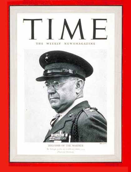 Time - Maj. General Holcomb - Nov. 11, 1940 - World War II - Marines