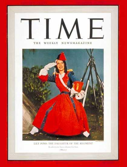 Time - Lily Pons - Dec. 30, 1940 - Singers - Opera - Music