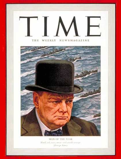 Time - Winston Churchill, Man of the Year - Jan. 6, 1941 - Winston Churchill - Person o