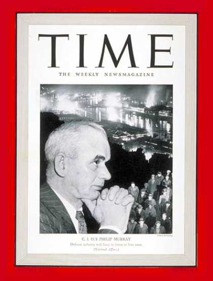 Time - Phillip Murray - Jan. 27, 1941 - Labor Unions - Scotland - Labor & Employment -