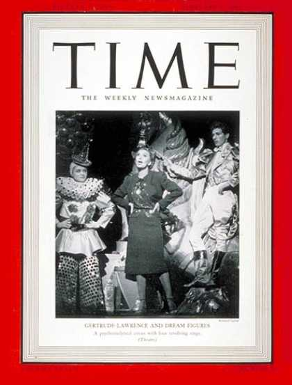 Time - Gertrude Lawrence - Feb. 3, 1941 - Actresses - Theater - Comedy - Movies - Broad