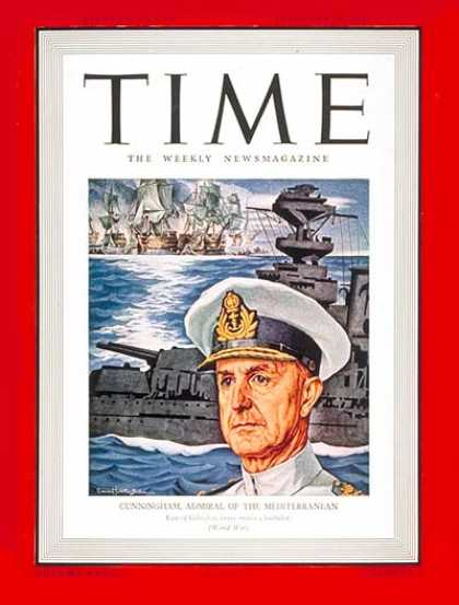 Time - Sir Andrew Cunningham - Feb. 17, 1941 - Great Britain - Military