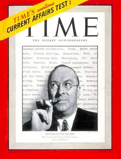 Time - Donald M. Nelson - Feb. 24, 1941 - World War II - Military