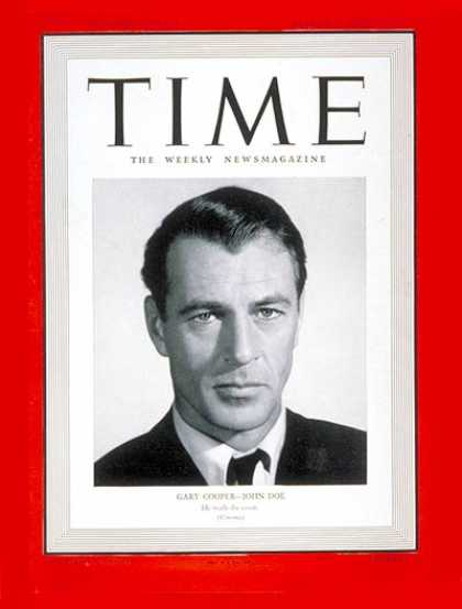 Time - Gary Cooper - Mar. 3, 1941 - Actors - Movies