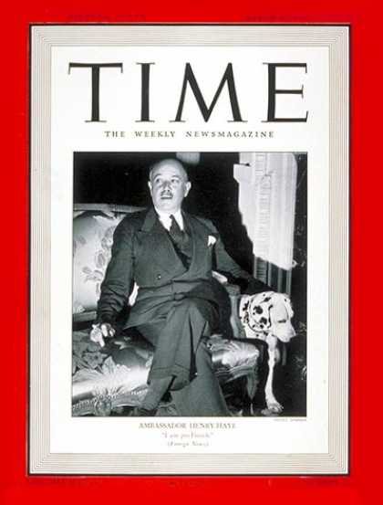 Time - Gaston Henry-Haye - Mar. 10, 1941 - France - Diplomacy