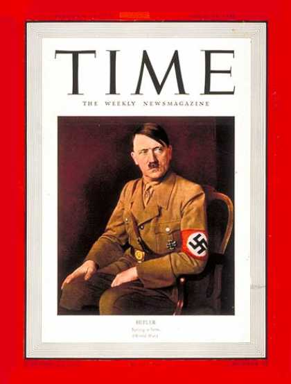Time - Adolf Hitler - Apr. 14, 1941 - Adolph Hitler - World War II - Germany - Nazism
