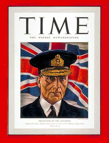 Time - Sir Percy Noble - Apr. 28, 1941 - Great Britain - Military - Navy