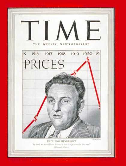 Time - Leon Henderson - May 12, 1941 - Politics