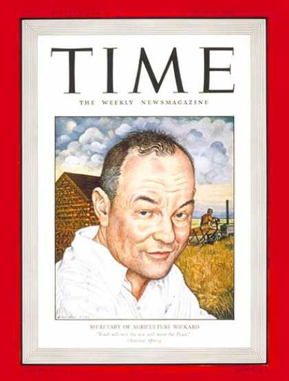 Time - Claude Wickard - July 21, 1941 - Agriculture