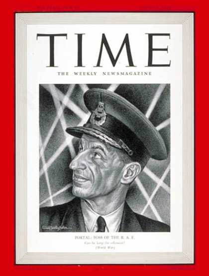 Time - Sir Charles Portal - July 28, 1941 - Great Britain - Military - Army