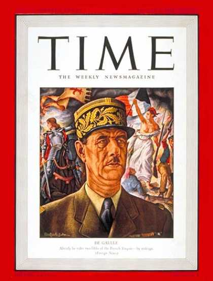 Time - Charles DeGaulle - Aug. 4, 1941 - France - World War II