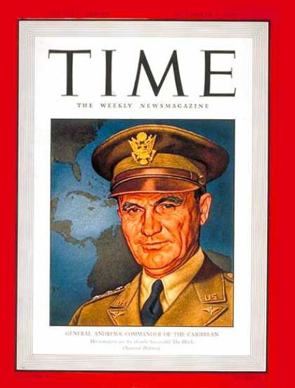 Time - General Frank Andrews - Sep. 1, 1941 - Air Force - Generals - Military