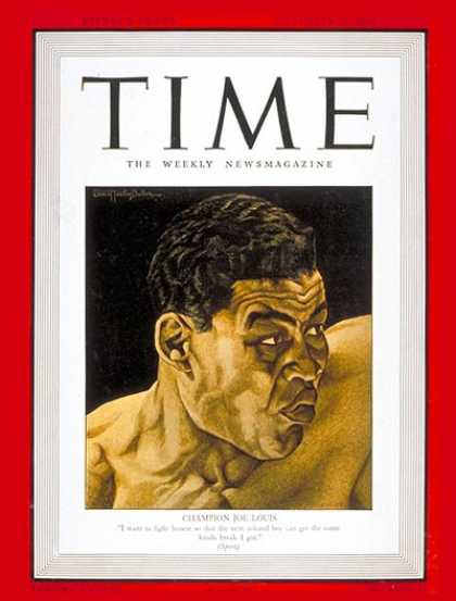 Time - Joe Louis - Sep. 29, 1941 - Boxing - Most Popular - Sports