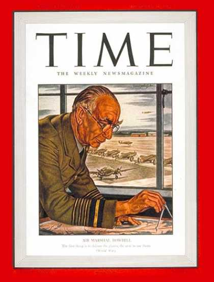 Time - Sir Frederick Bowhill - Oct. 20, 1941 - Great Britain - Military - Aviation