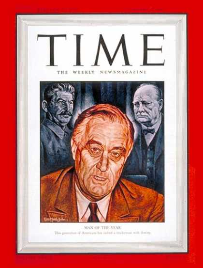 Time - Franklin D. Roosevelt, Man of the Year - Jan. 5, 1942 - Franklin D. Roosevelt -