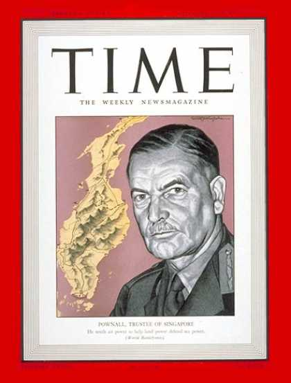 Time - Sir Henry H. Pownall - Jan. 12, 1942 - Great Britain - Military