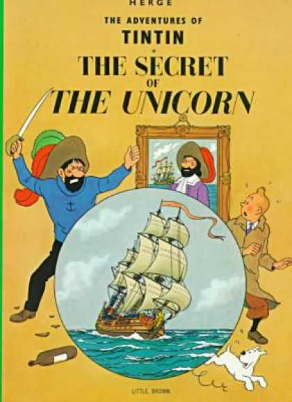 Tintin 11 - Dog - Rapier - Painting - The Secret Of The Unicorn - Boat