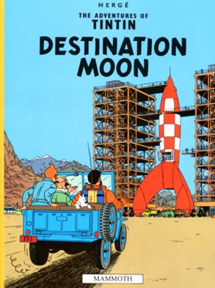Tintin 16 - Rocket - Moon - Dog - Blue Car - Spaceship