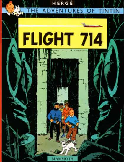 Tintin 22 - Herge - Flight 714 - Mammoth - Dog - Michinegun