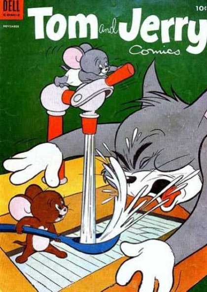 Tom & Jerry Comics 124 - Faucet - Splashing Water - Blue Spoon - Brown Mouse - Grey Mouse In White Pants